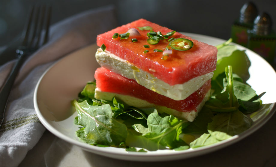Watermelon Feta and Arugula Salad - Pamela's Gluten Free Recipes