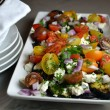 Cherry Tomato Eggplant Salad with Lemon Vinaigrette