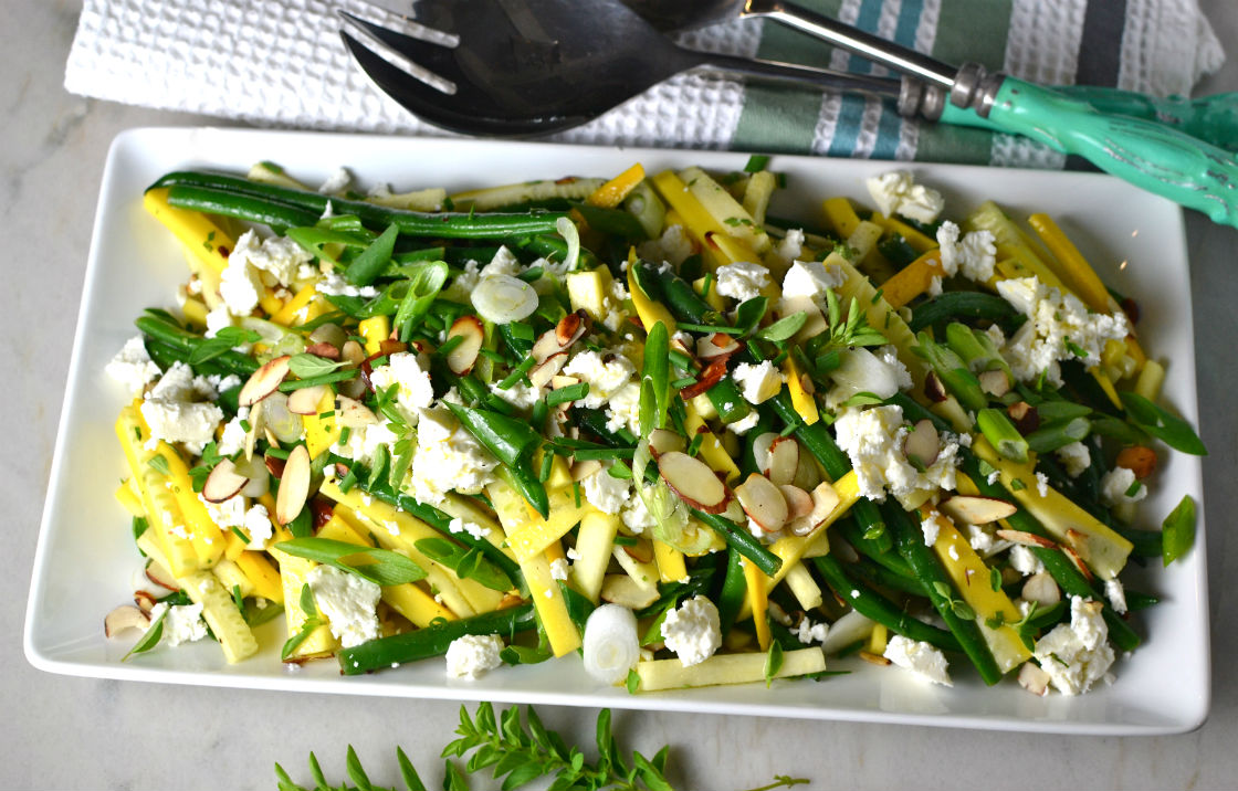Summer Squash Salad with Feta and Herbs