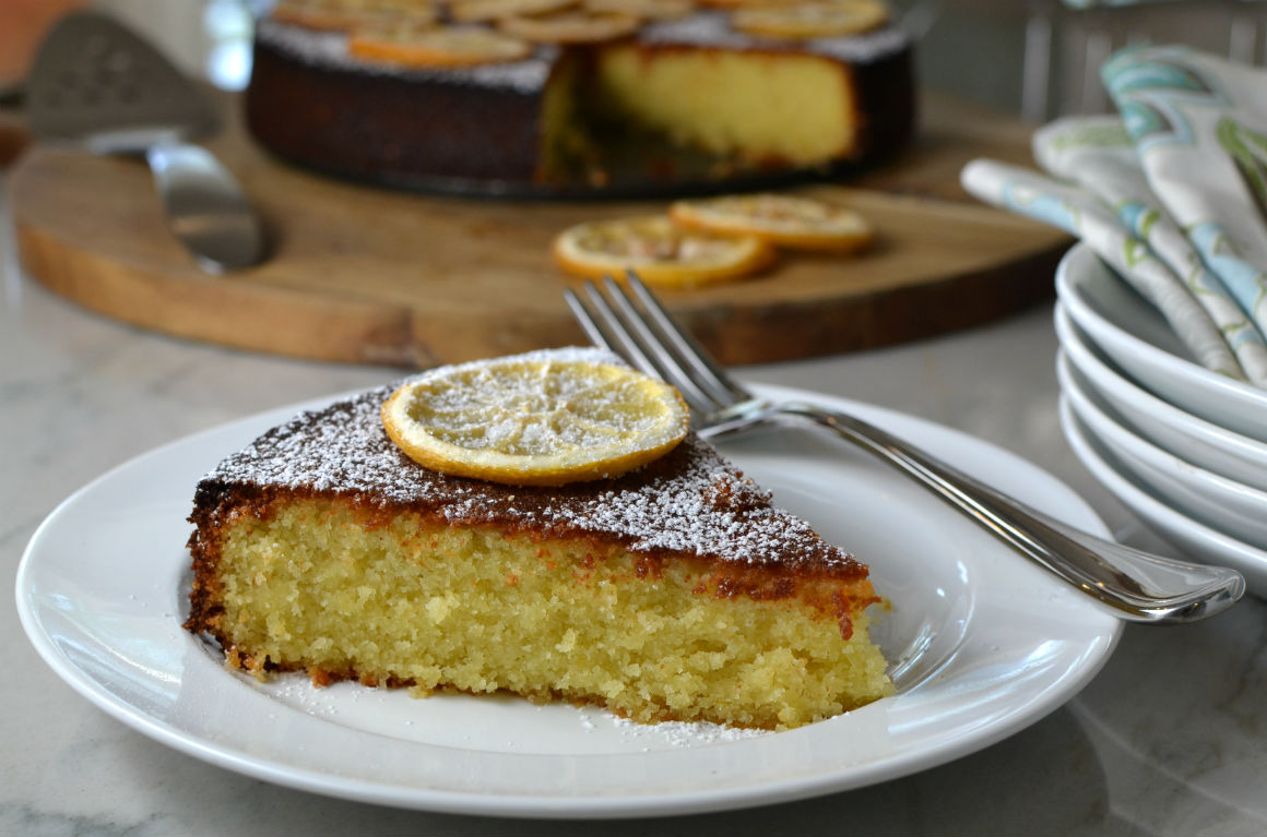 Vegan Lemon Cornmeal Cake